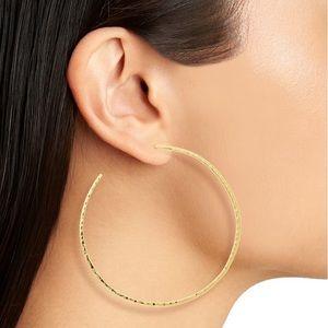 NWT Gorjana Taner Extra Large Hoop Earrings